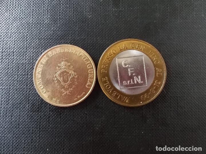 2 MONEDAS DE ECU ITALIA 1 EURO Y 50 CENT (Numismática - España Modernas y Contemporáneas - Ecus y Euros)