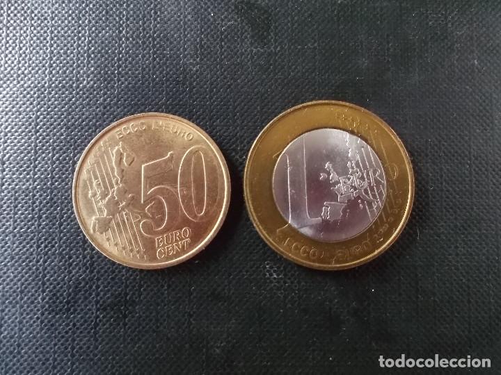 Euros: 2 monedas de ECU Italia 1 euro y 50 cent - Foto 2 - 172781150