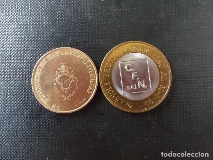 Euros: 2 monedas de ECU Italia 1 euro y 50 cent - Foto 3 - 172781150
