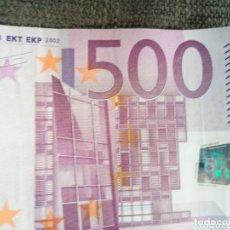 Euros: BILLETE 500€ SEGUNDA FIRMA 2002. Lote 172849228