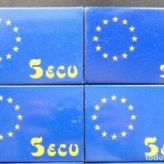 Euros: LOTE 4 MONEDAS 5 ECU 1989 CARLOS V FDC. Lote 95620231