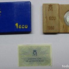 Euros: JUAN CARLOS I. MONEDA DE 1 ECU DE PLATA. 1989. FDC. LOTE 1805. Lote 173577087