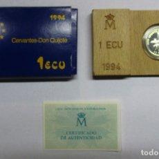 Euros: JUAN CARLOS I. MONEDA DE 1 ECU DE PLATA. 1994. CERVANTES-DON QUIJOTE. FDC. LOTE 1806. Lote 173577479