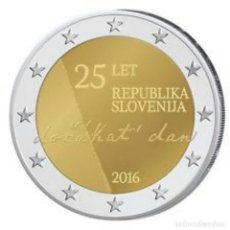 Euros: ESLOVENIA 2016 2€ 25 ANIVERSARIO DE LA INDEPENDENCIA DE ESLOVENIA. Lote 192028665