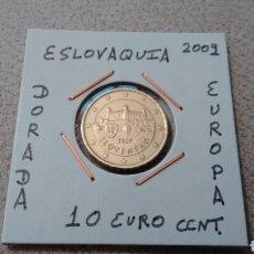 Euros: MONEDA 10 EUROCENT DE ESLOVAQUIA 2009 MBC ENCARTONADA. Lote 174447783