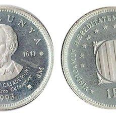 Euros: UN ECU DE CATALUNYA 1993 PAU CLARIS Y CASADEMUNT PLATA. Lote 174578417