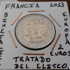 Euros: MONEDA 2 EUROS FRANCIA 2013 TRATADO DEL ELISEO MBC ENCARTONADA. Lote 211444655