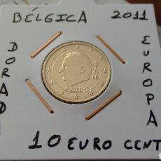 Euros: MONEDA 10 EURO CENT BÉLGICA 2011 MBC ENCARTONADA. Lote 175847825