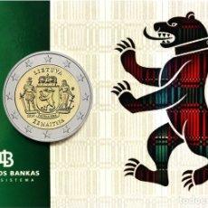 Euros: LITUANIA 2019 2€ EN COINCARD REGIONES ETNOGRÁFICAS LITUANAS - SAMOGITIA. Lote 177011254