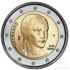 Euros: ITALIA 2019 2€ 500º ANIVERSARIO DE LA MUERTE DE LEONARDO DA VINCI. Lote 177055984