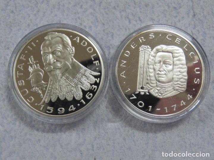 Euros: SUECIA - SVERIGE- 2 MONEDAS DE 20 ECUA EN PLATA PURA 999 CALIDAD PROOF, AÑOS 1997-1998, SOLO 1500 - Foto 2 - 177419917
