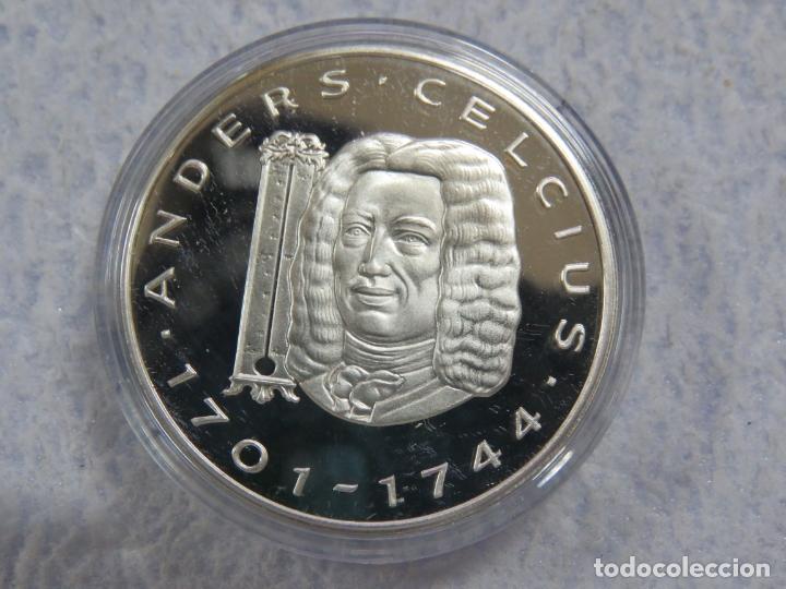 Euros: SUECIA - SVERIGE- 2 MONEDAS DE 20 ECUA EN PLATA PURA 999 CALIDAD PROOF, AÑOS 1997-1998, SOLO 1500 - Foto 3 - 177419917