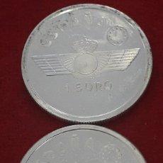 Euros: LOTE MONEDAS 1 EURO PLATA , CONMEMORATIVO AVIACION, 1997 , EBC. Lote 177490763