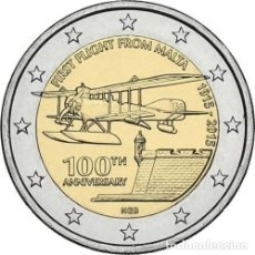 Euros: 2 EUROS CONMEMORATIVA MALTA 2015 PRIMER VUELO SC. Lote 184430647