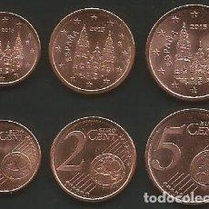 Euros: ESPAÑA 2015 - LOTE 1, 2 Y 5 CENT - SC. Lote 177941695