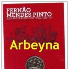 Euros: PORTUGAL 2011. 2€ CC FERNANDO MENDES PINTO. FDC. Lote 178008332