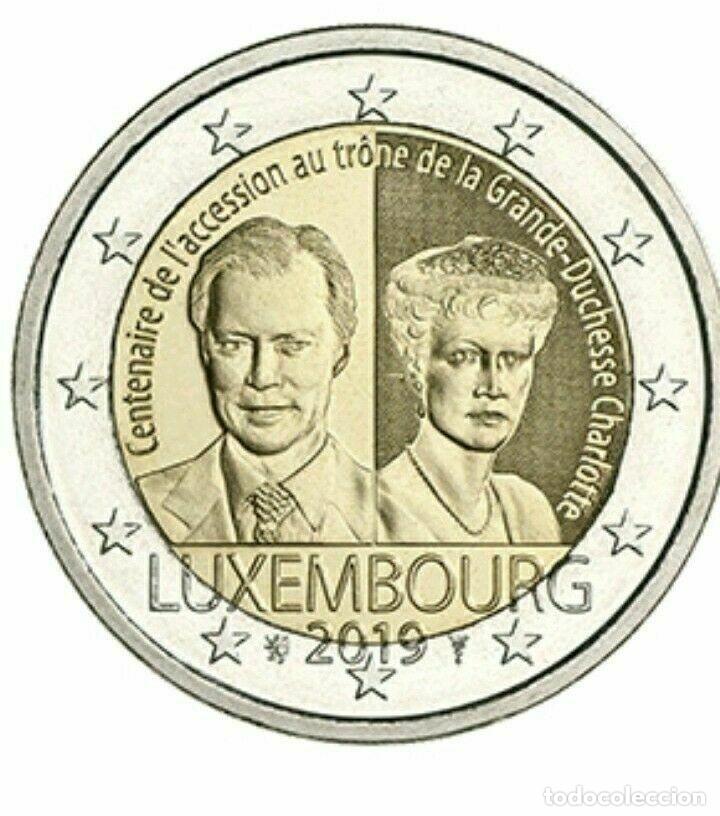 2 EUROS LUXEMBURGO 2019 CARLOTA (Numismática - España Modernas y Contemporáneas - Ecus y Euros)