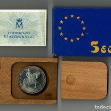 Euros: CAJITA 5 ECU PLATA 1989 CAROLUS V / FNMT. Lote 178168850