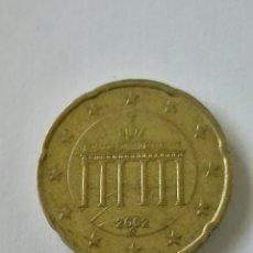 Euros: MONEDA ALEMANIA 20 CENTIMOS EURO 2002 CECA G. Lote 178364791