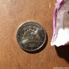 Euros: MONEDA 2 EUROS CONMEMORATIVA LETONIA 2019 - EL SOL NACIENTE. Lote 178914792