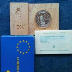 Euros: 1 ECU 1995 MARINA ESPAÑA FDC. Lote 178992742