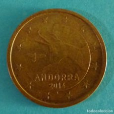 Euros: ANDORRA 5 CÉNTIMOS DE EURO 2014. Lote 180015675