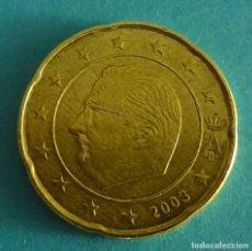 Euros: BÉLGICA 20 CÉNTIMOS DE EURO 2003. Lote 180016472