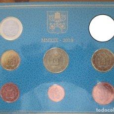 Euros: VATICANO 2019 CARTERA CON 7 VALORES 1 CENTIMO - 1 EURO . Lote 180133676