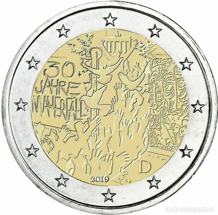 ALEMANIA 2019 2€ 30 AÑOS DE LA CAÍDA DEL MURO DE BERLÍN (Numismática - España Modernas y Contemporáneas - Ecus y Euros)