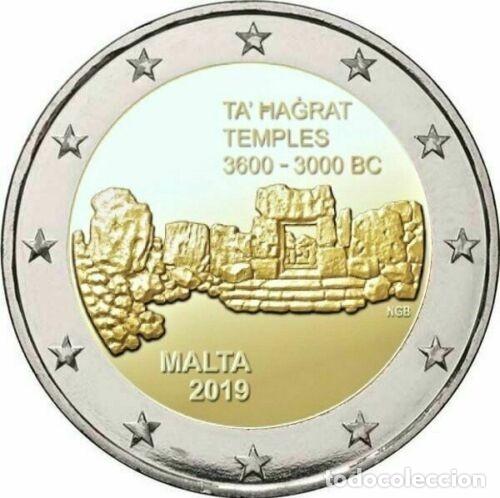 2 EUROS CONMEMORATIVA MALTA 2019 TA'HAGRAT SC (Numismática - España Modernas y Contemporáneas - Ecus y Euros)