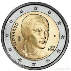 Euros: 2 EUROS CONMEMORATIVA ITALIA 2019 LEONARDO DA VINCI SC. Lote 180860136