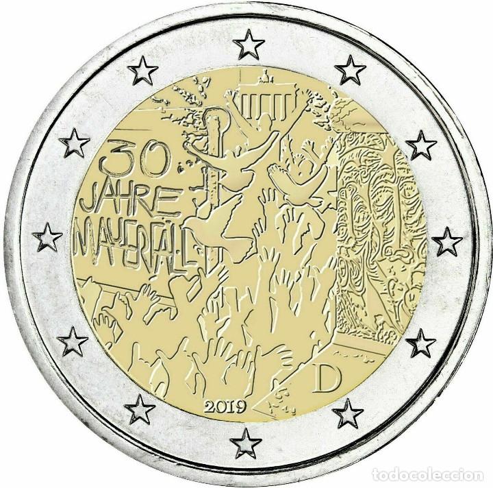 ALEMANIA 2 EUROS 2019 30 AÑOS DE LA CAÍDA DEL MURO DE BERLÍN J (Numismática - España Modernas y Contemporáneas - Ecus y Euros)