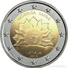 Euros: LETONIA 2019. MONEDA DE 2 EUROS DEDICADA AL IMPERIO DEL SOL. DE CATUCHO. Lote 182094843