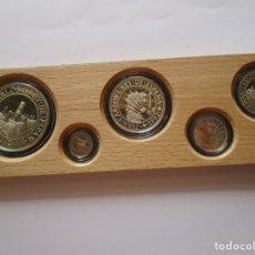 Euros: V CENTENARIO DEL DECUBRIMIENTO DE AMERICA. AÑO 1992 . ESTUCHE DE 5 PIEZAS PERFECTO.LA MAS RARA. Lote 182106082