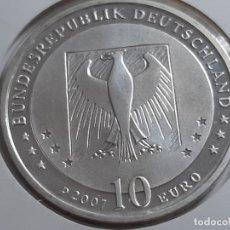 Euros: 10 EUROS PLATA ALEMANIA 2007. Lote 182299982