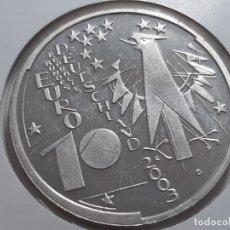 Euros: 10 EUROS PLATA ALEMANIA 2003. Lote 182300287