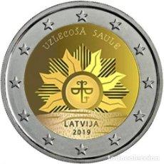 Euros: LETONIA 2 EUROS 2019 EL SOL NACIENTE. Lote 182459115