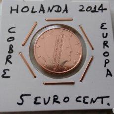 Euros: MONEDA 5 EURO CENT HOLANDA 2014 EBC ENCARTONADA. Lote 182474928