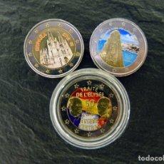 Euros: 3 MONEDAS DE 2 EUROS ESMALTADOS.. Lote 182540516
