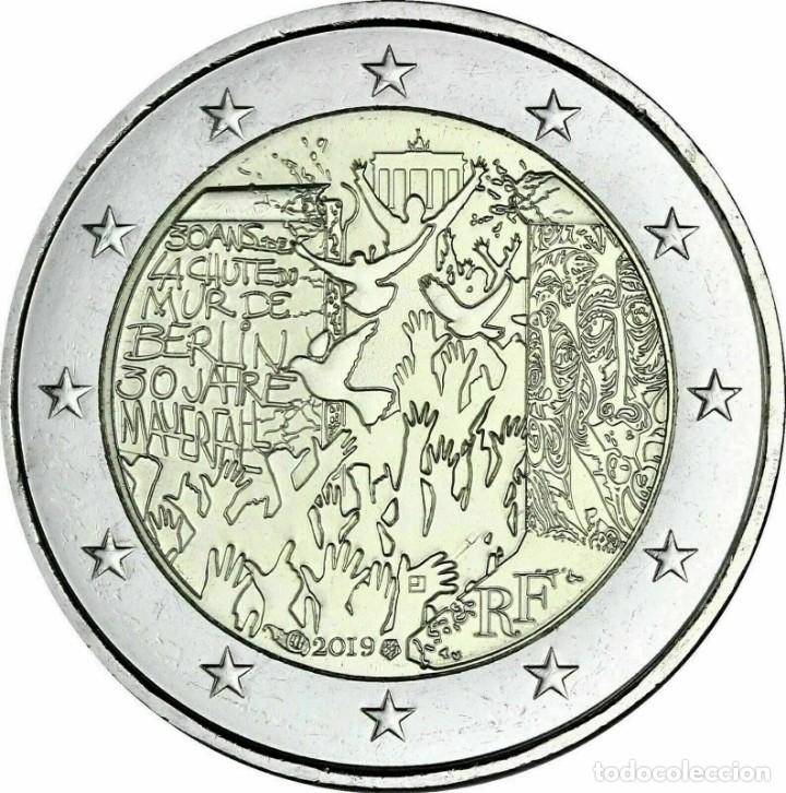 2 EUROS FRANCIA 2019 30 AÑOS CAIDA MURO BERLIN (Numismática - España Modernas y Contemporáneas - Ecus y Euros)