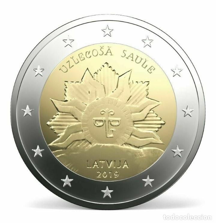 2 EUROS LETONIA 2019 EL SOL NACIENTE (Numismática - España Modernas y Contemporáneas - Ecus y Euros)