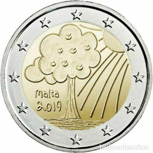 2 EUROS MALTA 2019 NATURALEZA Y MEDIO AMBIENTE (Numismática - España Modernas y Contemporáneas - Ecus y Euros)