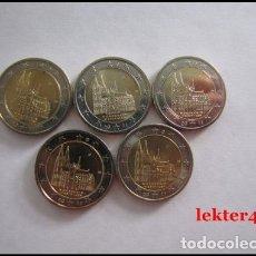 Euros: ALEMANIA 5 X 2 EUROS 2011 ADFGJ CONM. WESTFALIA - SIN CIRCULAR - . Lote 182865173