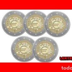 Euros: ALEMANIA 5 X 2 EUROS 2012 ADFGJ CONM. TYE - SIN CIRCULAR - . Lote 182870160