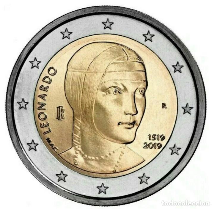 ITALIA 2019 2€ 500º ANIVERSARIO DE LA MUERTE DE LEONARDO DA VINCI (Numismática - España Modernas y Contemporáneas - Ecus y Euros)