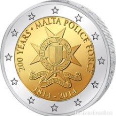 Euros: MALTA 2 EUROS 2014 CONM. POLICÍA DE MALTA - SIN CIRCULAR -. Lote 182908275