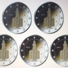 Euros: ALEMANIA 5 X 2 EUROS 2015 ADFGJ CONM. HESSEN - SIN CIRCULAR -. Lote 182910105