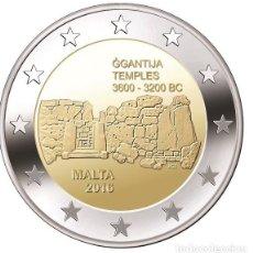 Euros: MALTA 2 EUROS 2016 CONM. TEMPLOS DE GGANTIJA - SIN CIRCULAR - . Lote 182955111