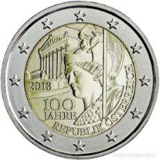 Euros: AUSTRIA 2 EUROS 2018 CONM. 100 AÑOS DE REPÚBLICA - SIN CIRCULAR - . Lote 182960280