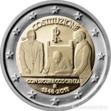 Euros: ITALIA 2 EUROS 2018 CONM. 70 ANIV. DE LA CONSTITUCIÓN - SIN CIRCULAR -. Lote 182962085